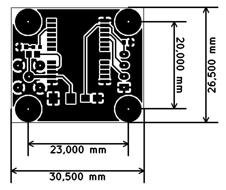 Moduł GPS GTS-4E-60 - rysunek techniczny